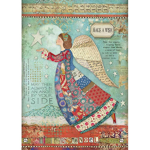 Make A Wish Angel Rice Paper by Stamperia-Item #DFSA4407