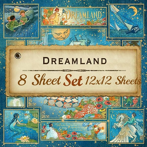 Graphic-Dreamland-8 Single 12x12 Double-Sided Sheets (No Cover)