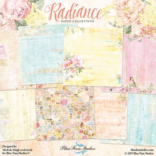Blue Fern-Radiance - 8 - 12x12 Double-Sided Sheets-One of each Design (no cover)