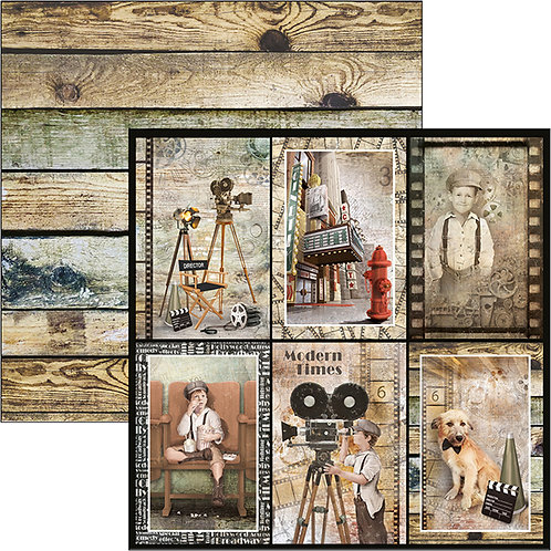 Ciao Bella-Modern Times Cards - 2 - 12x12 Single Sheets-Item #CBSS115