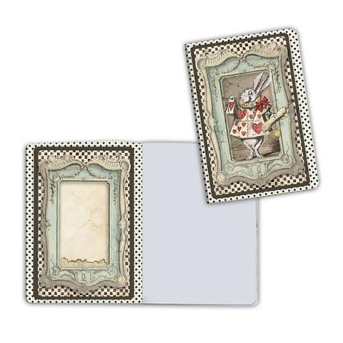 Alice-White Rabbit Notebook by Stamperia-4x5.75-Item #ENBA6013