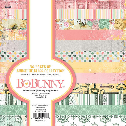 BoBunny-Sunshine Bliss Collection-6 x 6 Paper Pad-36 Sheets