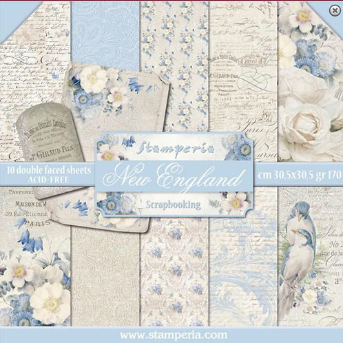 New England by Stamperia - 12 x 12 Paper Pack-Item #SBBL13