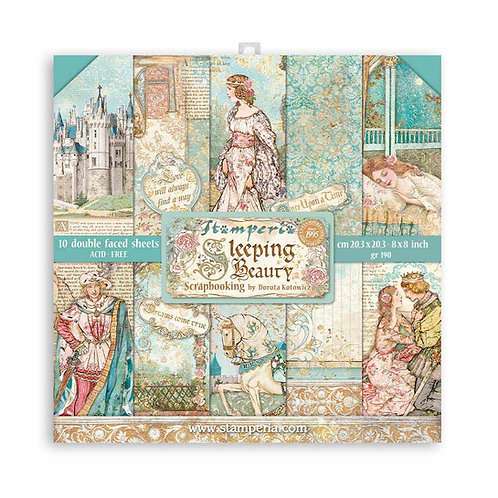 Stamperia - Sleeping Beauty - 8x8 Paper Pad - 10 Sheets - 22 Designs