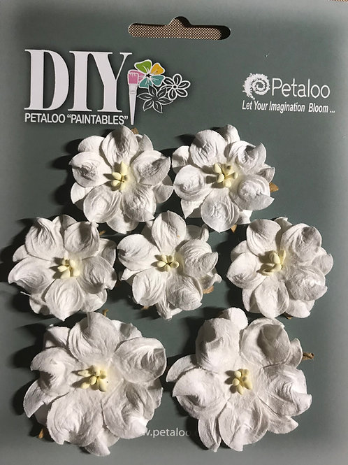 Petaloo - DIY Mini White Paintable Wild Roses