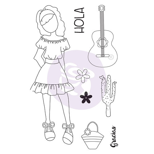 "Julie Nutting ""Gabriela"" Cling Stamps-Item #912901"