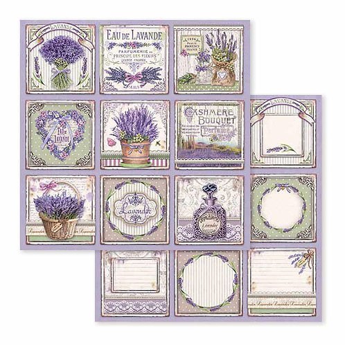 Stamperia-Provence Cards - 2 - 12x12 Single Sheets