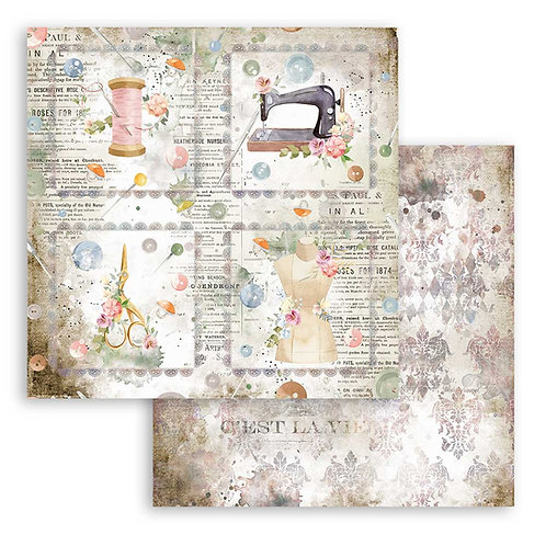 PRE ORDER - Stamperia-Thread Cards - 2 - 12x12 Single Sheets