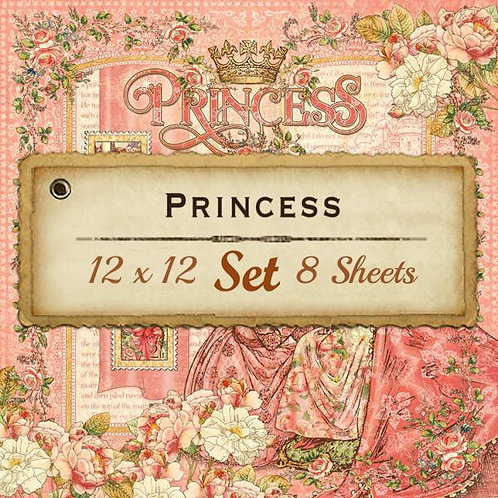 Graphic 45-Princess-12x12 Papers-8 Single Double-Sided Sheets (No Cover)