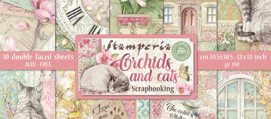 Stamperia Orchids and Cats
