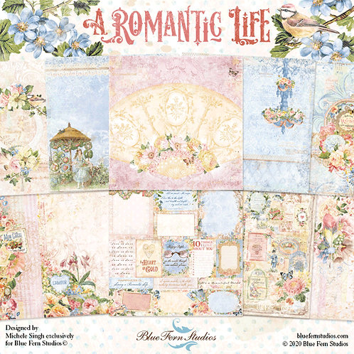 Blue Fern - Romantic Life - 10 - 12x12 Double-Sided Design Papers (no cover)