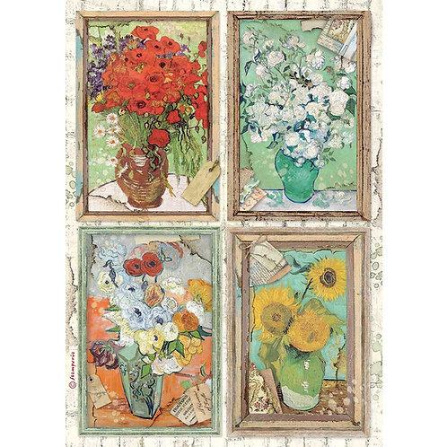 PRE ORDER - Stamperia - Atelier Des Arts - Van Gogh - Rice Paper A4