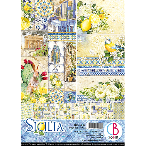 Sicilia by Ciao Bella-9 Double-Side Papers in the A4 Format