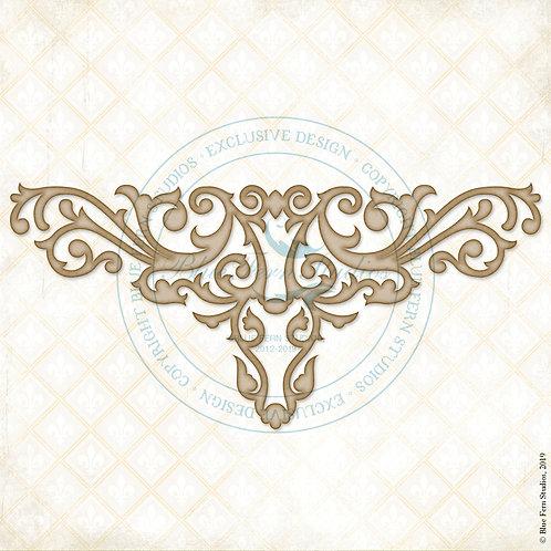 Blue Fern - Chipboard - Ornate Flourish Corner