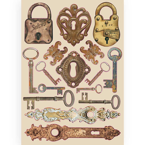 Stamperia - Lady Vagabond - Locks & Keys - Wooden Shapes