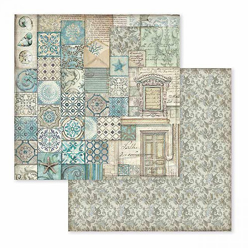 Stamperia-Azulejos De Sueno Patchwork - 2 - 12x12 Single Sheets-Item #SBB607