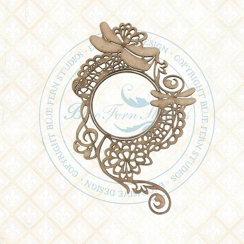 Blue Fern Studios - Bird Waltz - Chipboard - Dragonfly Melody Frame