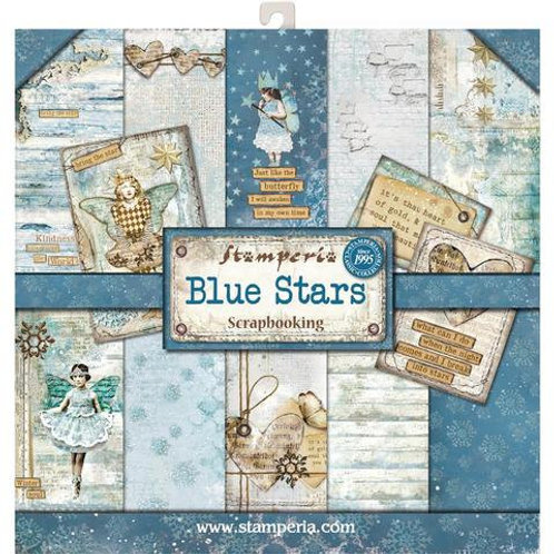 Blue Stars by Stamperia - 10 - 12x12 Double-Sided Design Papers
