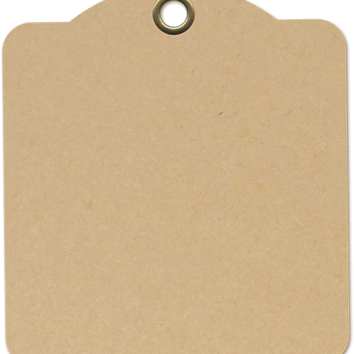 Graphic 45-Square Tags-Kraft-Item #4501281