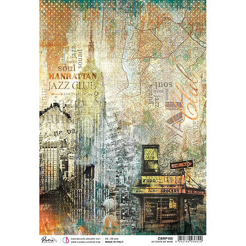 Blue Note - New York State of Mind - A4 Rice Paper by Ciao Bella