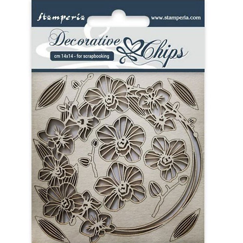 Stamperia-Decorative Chips-Garland of Flowers