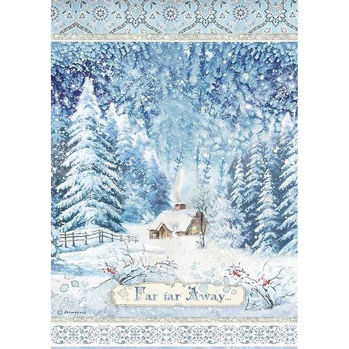 Stamperia - Winter Tales - Far Far Away - Rice Paper A4