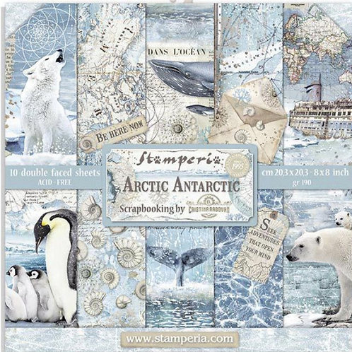 Stamperia-Arctic Antarctic  8x8 Paper Pack-10 Sheets - 22 Designs-Item #SBBS20