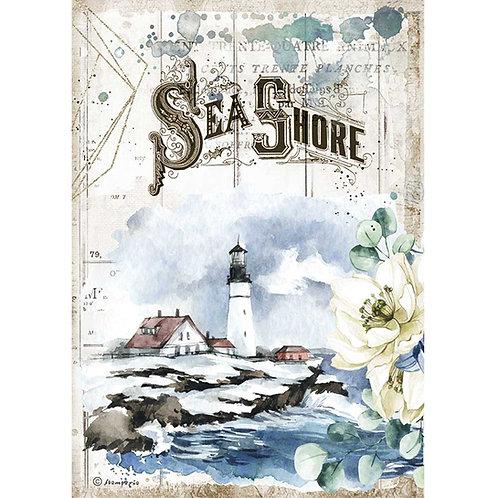 Stamperia - Sea Dream - Sea Shore - Rice Paper A4