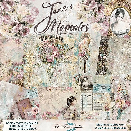 Blue Fern - Jane's Memoirs - 10 - 12x12 Double-Sided Design Papers (no cover)