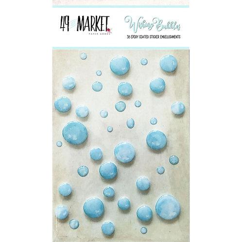 49 and Market-Wishing Bubbles-Cotton Candy-38 Epoxy Sticker Embellishments
