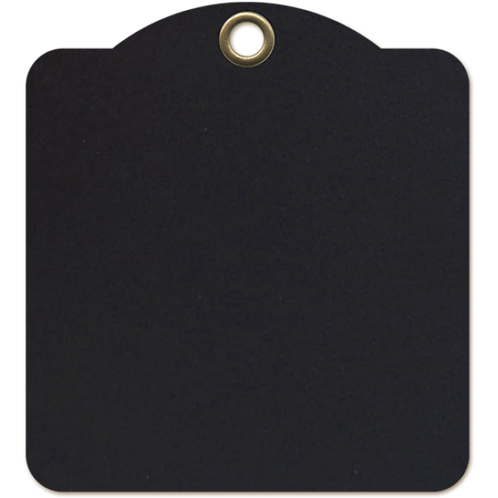 Graphic 45-Square Tags—Black