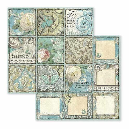 Stamperia-Azulejos De Suenos Cards - 2 - 12x12 Single Sheets-Item #SBB605