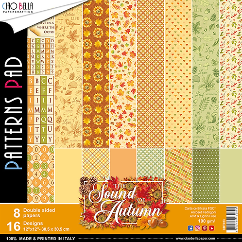 The Sound of Autumn by Ciao Bella-8-12x12 Double-Sided Pprs-CBT023
