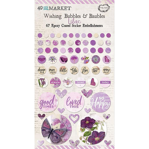 49 And Market Epoxy Coated Wishing Bubbles & Baubles 67/Pkg - Lilac