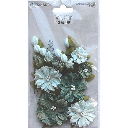 49 and Market - Royal Spray - Ocean Jade - 15 Pieces