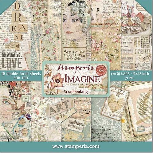 Imagine by Stamperia - 10 - 12x12 Double-Sided Design Papers