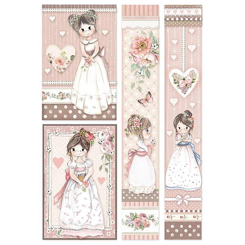 Stamperia -Little Girl Frames - Rice Paper A4-Item #DFSA4452