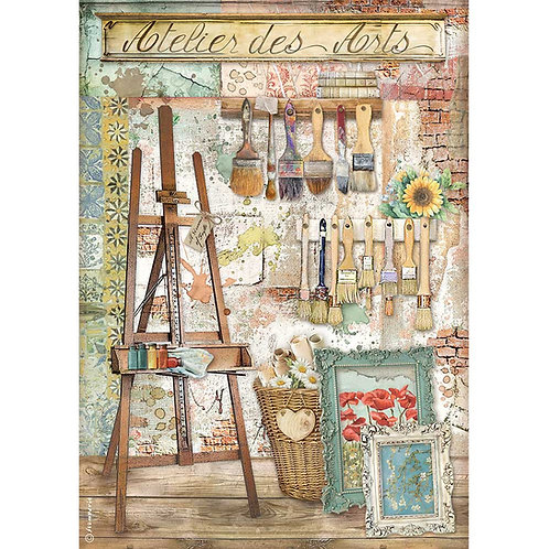 Stamperia - Atelier Des Arts - Easel - Rice Paper A4