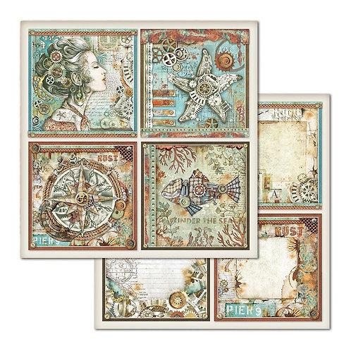 Stamperia-Sea World 4 Square - 2 - 12x12 Single Sheets-Item #SBB666