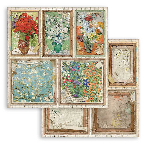 Stamperia - Atelier Des Arts - Cards - 2 - 12x12 Single Sheets