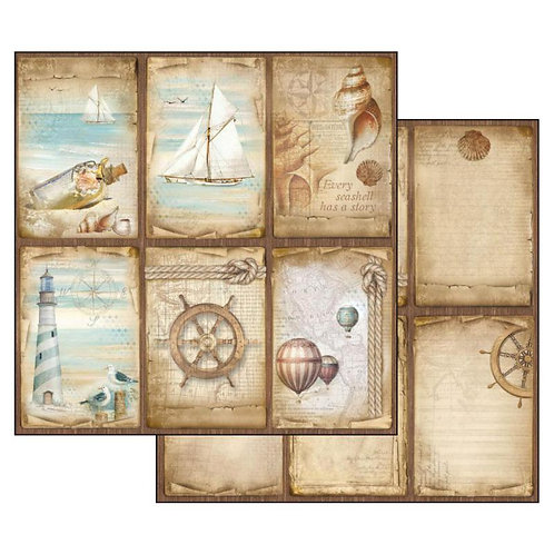 Stamperia-Sea Land Cards - 2 - 12x12 Single Sheets-Item #SBB541