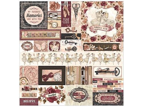 BoBunny - Charmed - 12x12 Sticker Sheet