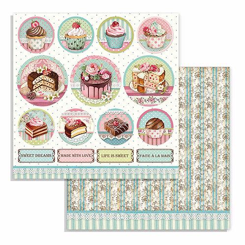 Stamperia-Sweety Mini Cake Rounds-2 - 12x12 Single Sheets-Item #SBB737