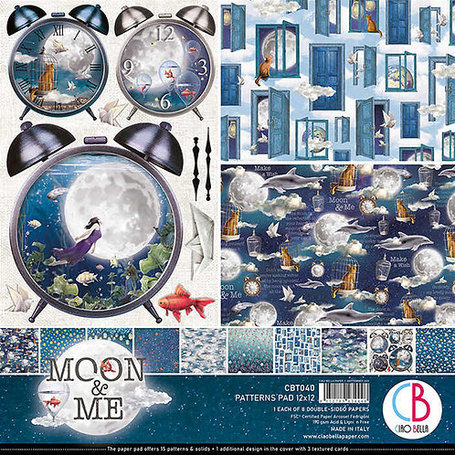 Moon & Me by Ciao Bella-8-12x12 Double-Sided Papers-CBT040