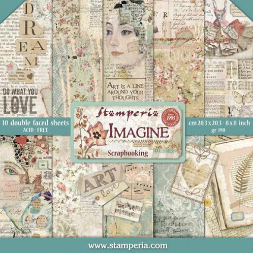 Imagine 8x8 Paper Pack by Stamperia - 10 Double Sided Design Papers