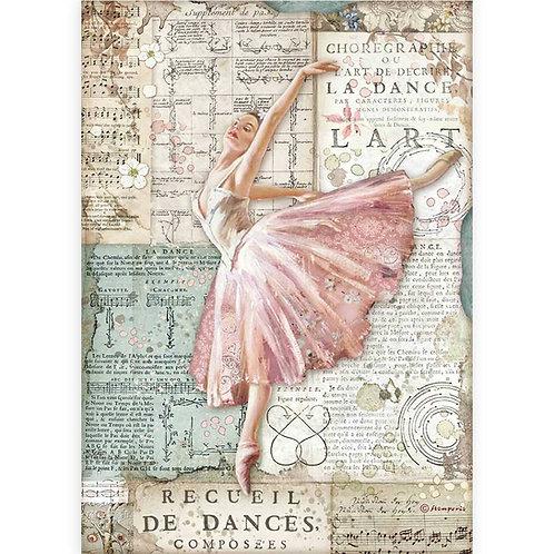 Stamperia - Passion - Dancer - Rice Paper A4