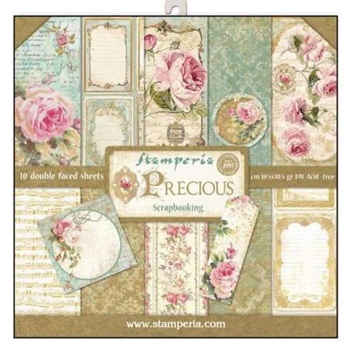 Precious by Stamperia-12x12 Paper Pack