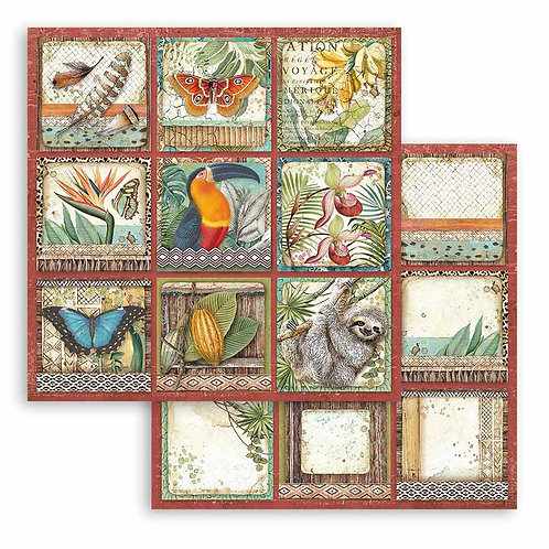 Stamperia - Amazonia - 9 Cards - 2 - 12x12 Single Sheets