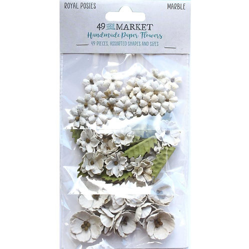49 and Market - Royal Posies - Marble - 49 Pieces