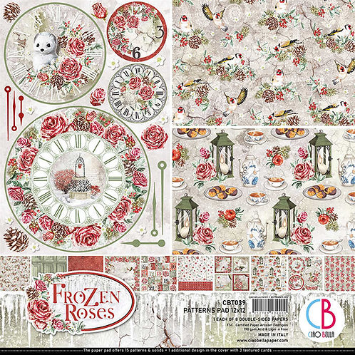 Frozen Roses by Ciao Bella-8-12x12 Double-Sided Papers